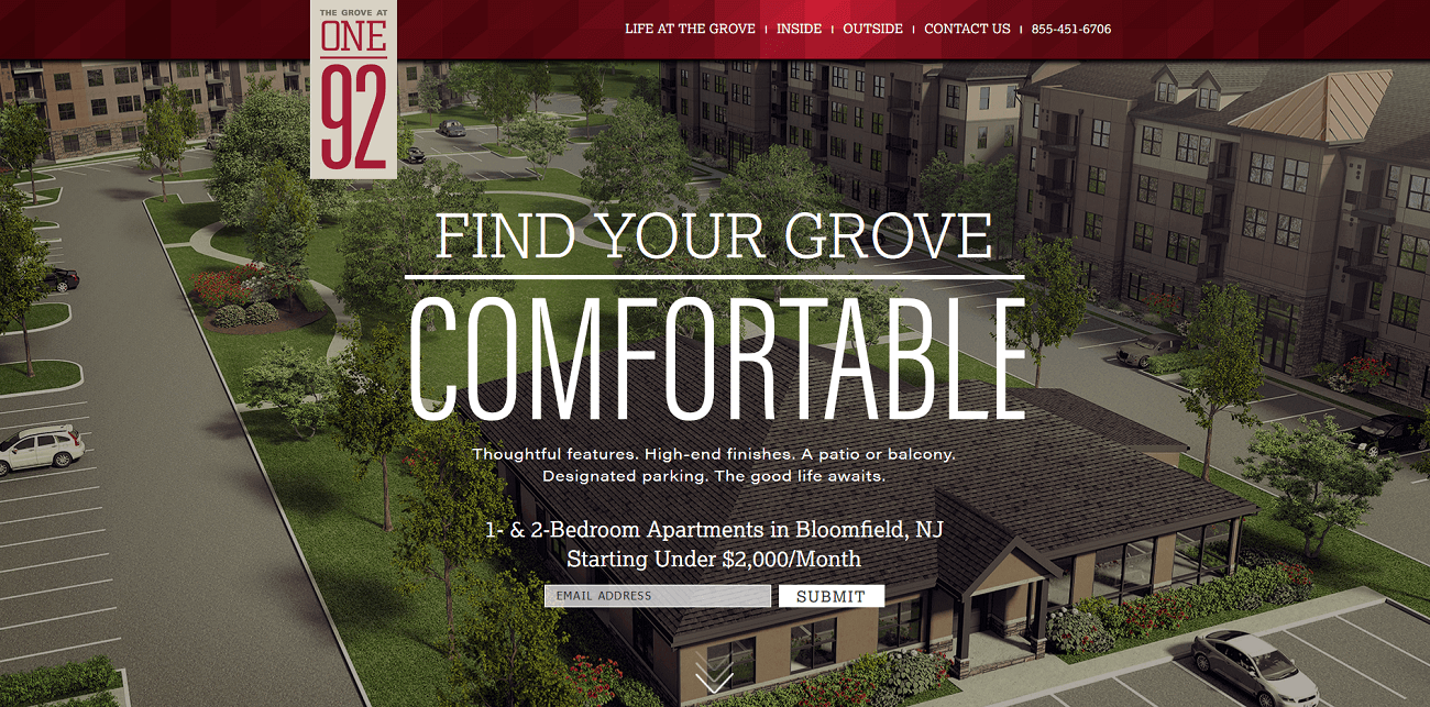 Bloomfield Nj Apartments For Rent The Grove At One92